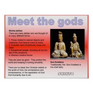 Religion, Japan, Shinto Meet the gods Poster
