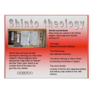 Religion, Japan, Shinto theology Poster