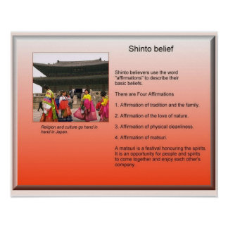 Religion, Japan, Shintoism, Shinto belief Poster