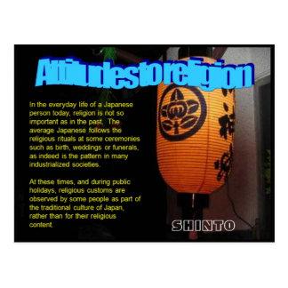 Religión, Japón, actitudes respecto a la religión Postal