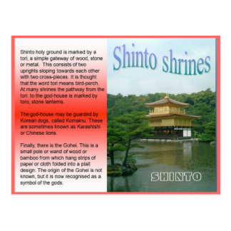 Religión, Japón, capillas sintoístas Postales