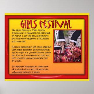 Religión, Japón, Shintoism, festival de los chicas Posters
