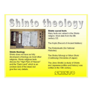 Religión, Japón, teología sintoísta Postal