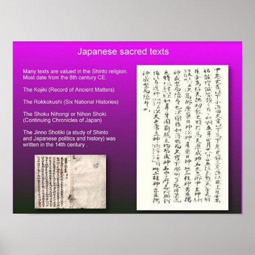 Religión, Japón, textos sintoístas, sagrados Impresiones