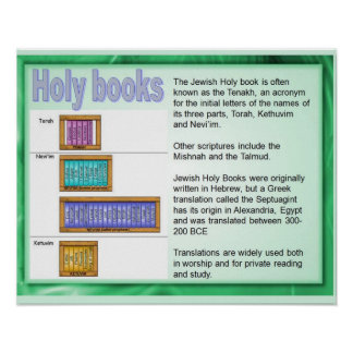 Religión judaísmo Libros sagrados escritura Poster