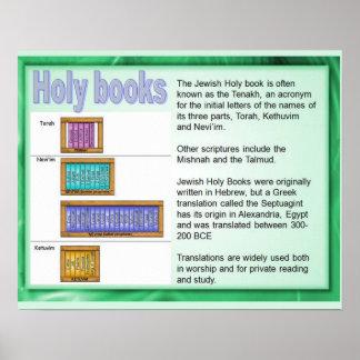 Religión, judaísmo; Libros sagrados, escritura Póster