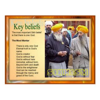 Religion, Key Sikh beliefs Postcard