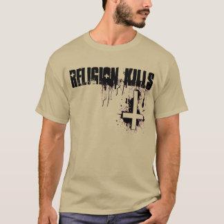 Religion Kills Blood Inverted Cross T-Shirt