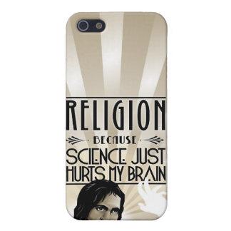 Religión. La ciencia daña mi cerebro iPhone 5 Cárcasa
