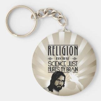 Religión. La ciencia daña mi cerebro Llavero