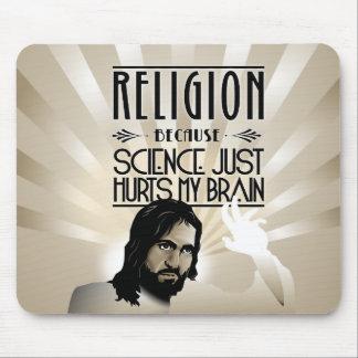 Religión. La ciencia daña mi cerebro Tapete De Ratones