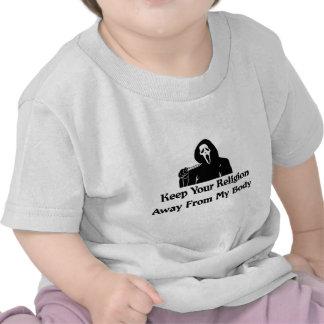 Religión lejos de mi cuerpo camiseta