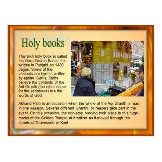 Religión, libros sagrados sikh, Guru Adi Granth Tarjeta Postal