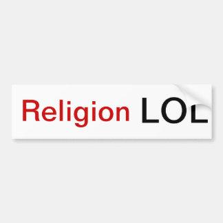 Religión LOL Etiqueta De Parachoque