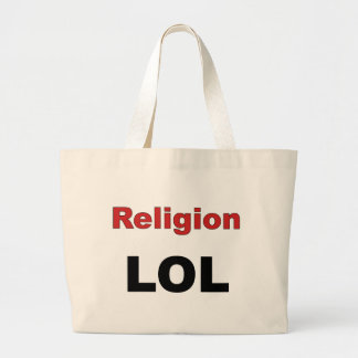 Religion LOL Large Tote Bag