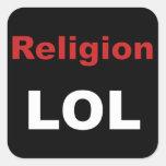 Religion LOL Square Sticker