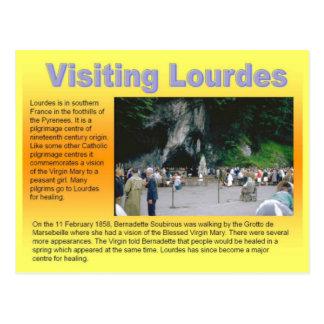 Religión, Lourdes que visita Postal