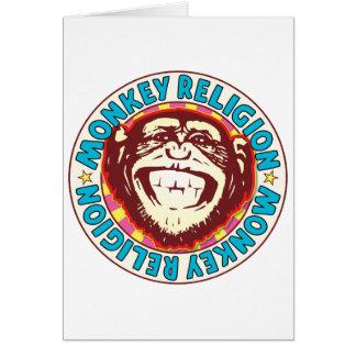 Religion Monkey Greeting Card