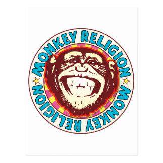 Religion Monkey Postcard