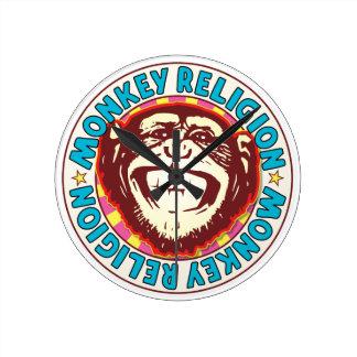 Religion Monkey Round Wallclocks