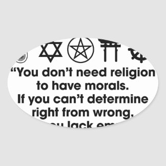 Religion Morals Oval Sticker