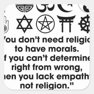 Religion Morals Square Sticker