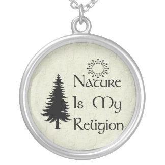 Religión natural colgante redondo