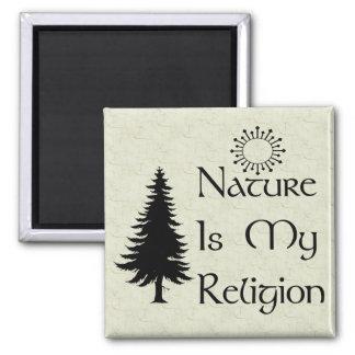 Religión natural imán cuadrado