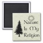 Religión natural imán para frigorífico