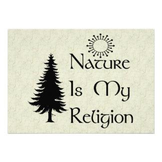 Religión natural invitaciones personalizada