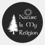 Religión natural pegatina redonda