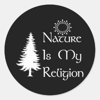 Religión natural pegatinas redondas