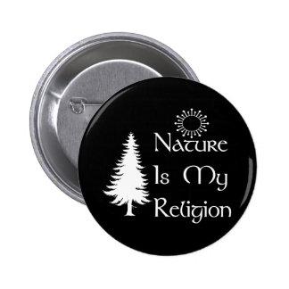 Religión natural pin redondo de 2 pulgadas