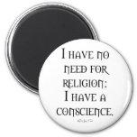 Religión o conciencia iman de frigorífico