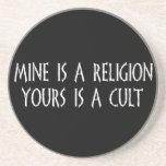 ¿Religión o culto? Posavasos Diseño