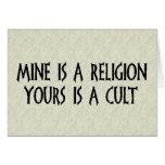 ¿Religión o culto? Tarjetón