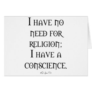 Religion or Conscience Card