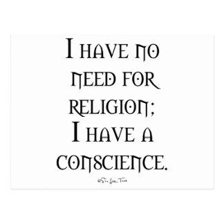 Religion or Conscience Postcard