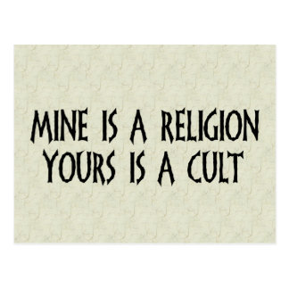 Religion Or Cult? Postcard