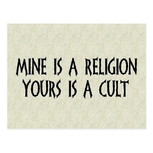 Religion Or Cult? Postcards