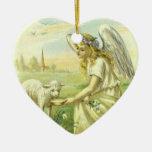 Religión Pascua, ángel del vintage del Victorian c Ornamente De Reyes