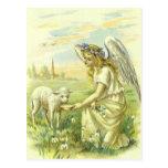 Religión Pascua, ángel del vintage del Victorian Postal