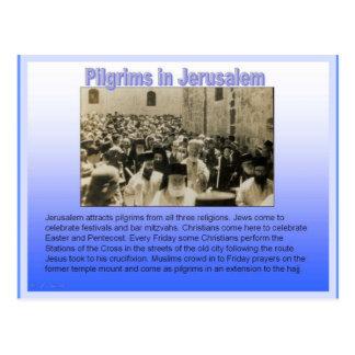 Religión, peregrinos en Jerusalén Postales