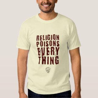 Religion Poisons Everything, Large Tee Shirts