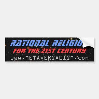 Religión racional etiqueta de parachoque