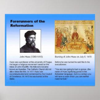 Religión reforma cristiana Juan Huss Poster