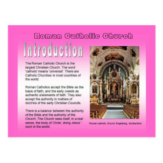 Religion, Roman Catholic Church, Introduction Postcard