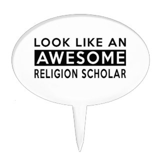 RELIGION SCHOLAR DESIGNS CAKE PICKS