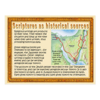 Religion, Scriptures as historical sources Postcard