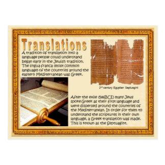 Religion, Scriptures, Translations Postcard